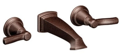 Moen TS6204ORB Rothbury Lavatory Double Handle Wall Mounted Faucet - Oil Rubbed Bronze