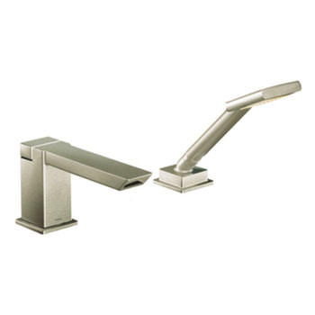 Moen TS9041BN 90 Degree High Arc Roman Tub Faucet Includes Hand Shower ioDIGITAL Technology - Brushed Nickel