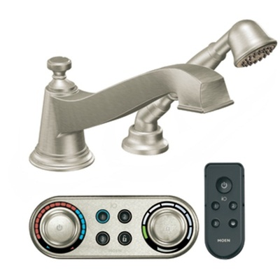Moen TS9222BN Rothbury Electronic Roman Tub Filler Faucet with Personal Hand Shower - Brushed Nickel
