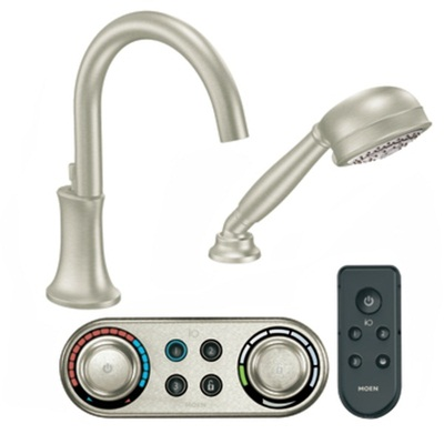Moen TS9622 Icon Electronic Roman Tub Filler Faucet with Personal Hand Shower - Brushed Nickel