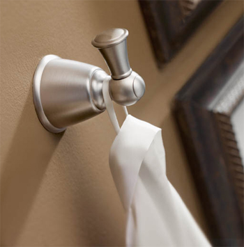 Moen YB2503BN Castleby Robe Hook Brushed Nickel
