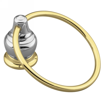Moen YB4786CP Creative Specialties Decorator Towel Ring - Chrome/Polished Brass