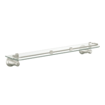 Moen YB8290BN Rothbury Glass Shelf Brushed Nickel