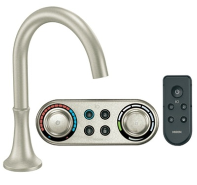 Moen TS9621BN Icon Electronic Roman Tub Filler Faucet - Brushed Nickel