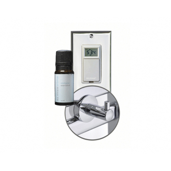 Mr. Steam WT VALET PC Broadway Valet Package with Robe Hook, Essential Oil, and Digital Timer - Chrome