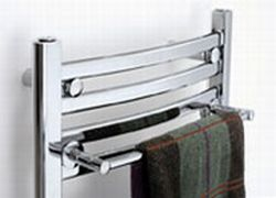 Mr. Steam SBRACK-STW Single Bar Towel Rack - White (Pictured in Polished Chrome)