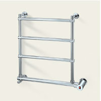 Mr. Steam W542BN Wallmount Electric Towel Warmer - Brushed Nickel (Pictured in Polished Chrome)
