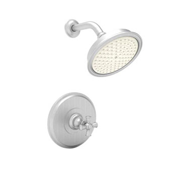 Newport Brass 3-2444BP-15S Sutton Single Cross Handle Pressure Balanced Shower Trim Only - Satin Nickel