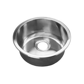Opella 14177.045 16.7 inch  Diameter Round Bar Sink - Polished Stainless Steel