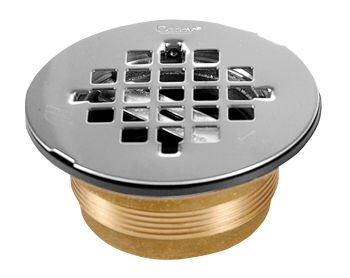 Oatey 42150 2 inch  Brass No-Calk Shower Drain - Stainless Steel