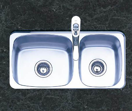 Oliveri 400 Series Double Basin Undermount Kitchen Sink Stainless Steel