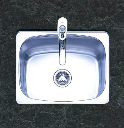 Oliveri 445 400 Series Single Basin Undermount Kitchen Sink Stainless Steel