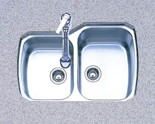Oliveri 834U 800 Series Double Basin Undermount Kitchen Sink Stainless Steel