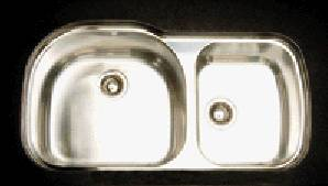 Oliveri 885U 800 Series Double Basin Undermount Kitchen Sink Stainless Steel