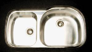Oliveri 886U 800 Series Double Basin Undermount Kitchen Sink Stainless Steel