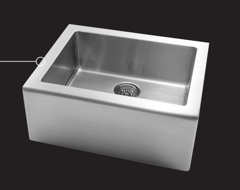 Astracast AP1033 Apron Single Large Bowl Kitchen Sink - Stainless Steel