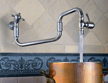 PF1080 Franke Pot Filler Faucet - Satin Nickel (Pictured in Chrome)