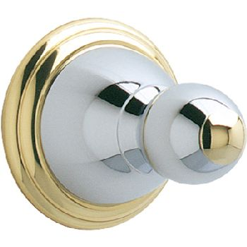 Price Pfister BRH-C0CB Carmel Robe Hook Chrome/Polished Brass