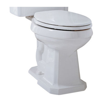 Porcher 40150.00.001 Lutezia Two-Piece Elongated Toilet Bowl Only - White