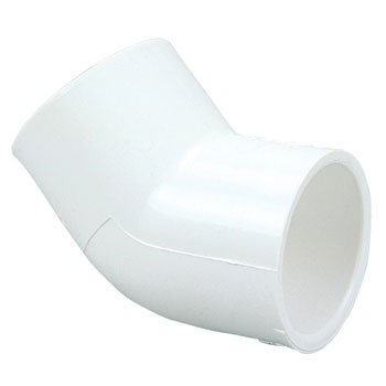 1/2 inch Slip x Slip 45 degree Elbow PVC Schedule 40 Pressure Fittings