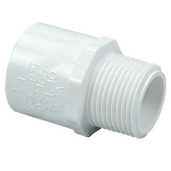 2 inch MIPT x Slip Male Adapter PVC Schedule 40 Pressure Fittings