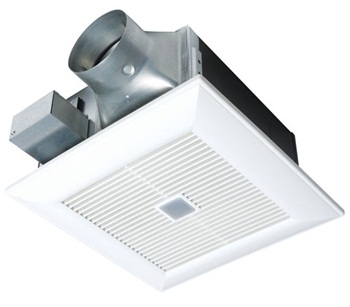 Panasonic FV-08VFM2 WhisperWelcome� 80 CFM Ceiling Mounted Ventilation Fan with Low Profile Housing Design