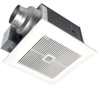 Panasonic FV-08VQC5 WhisperSense™ 80 CFM Ceiling Mounted Ventilation Fan with Dual and Humidity Sensor Technology