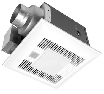 Panasonic FV-08VQCL5 WhisperSense-Lite 80 CFM Ceiling Mounted Ventilation Fan/Light with Dual Sensor Motion and Humidity Technology