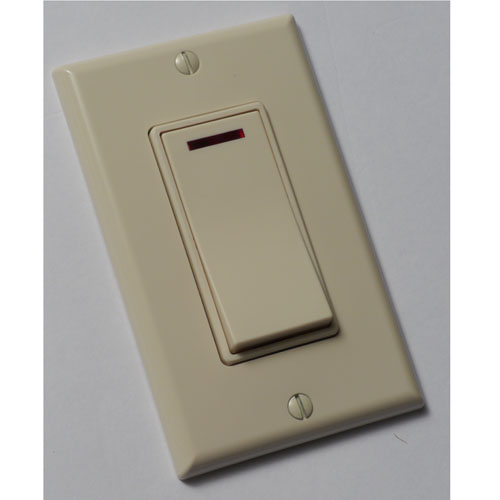 Panasonic FV-WCSW11-A WhisperControl Switch - 1 Function Control On/Off Switch with Pilot Light - Almond