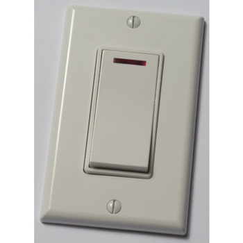 Panasonic FV-WCSW11-W WhisperControl Switch - 1 Function Control On/Off Switch with Pilot Light - White