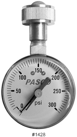 Pasco 1428 Lazy Hand Water Test Gauge 0-300 PSI