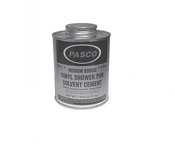Pasco 3008 Vinyl Shower Pan Solvent - 1 Pint