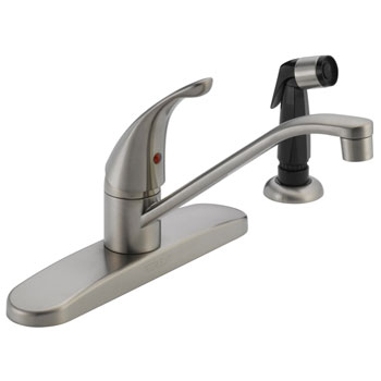 Peerless P115LF-SS Single Handle Kitchen Faucet with Side Spray - Stainless Steel