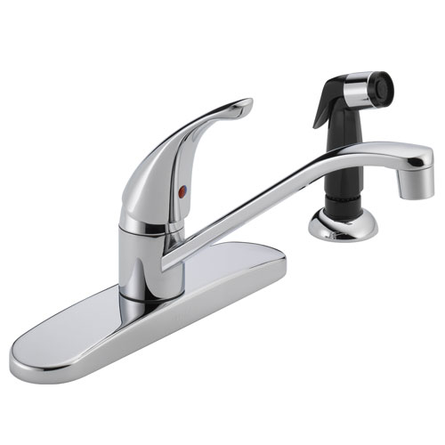 Peerless P115LF Single Handle Kitchen Faucet with Side Spray - Chrome