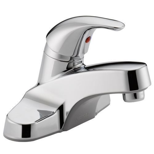 Peerless P131LF Single Lever Handle Centerset Lavatory Faucet without Pop Up Drain - Chrome