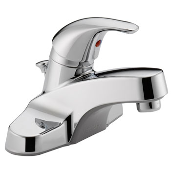 Peerless P136LF Single Lever Handle Centerset Lavatory Faucet with Plastic Pop Up Drain - Chrome
