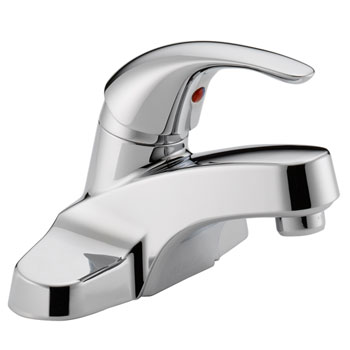 Peerless P138LF-M Single Lever Handle Centerset Lavatory Faucet with Metal Grid Strainer - Chrome