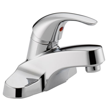 Peerless P183510LF Single Lever Handle Centerset Lavatory Faucet without Pop Up Drain - Chrome