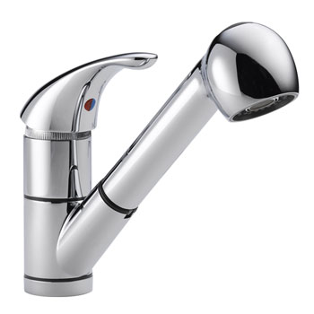 Peerless P18550LF Single Handle Pull Out Kitchen Faucet - Chrome