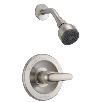 Peerless P18760-BN Complete Shower & Lever Diverter with Valve - Brushed Nickel