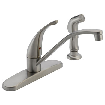 Peerless P188500LF-SS Single Handle Kitchen Faucet with Side Spray - Stainless Steel