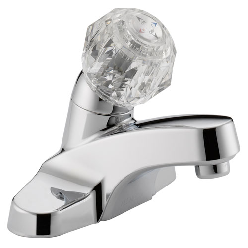 Peerless P188601LF Single Acrylic Handle Centerset Lavatory Faucet without Pop Up Drain - Chrome