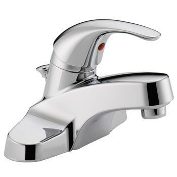 Peerless P188620LF Single Lever Handle Centerset Lavatory Faucet with Plastic Pop Up Drain - Chrome