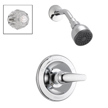 Peerless P188710 Complete Shower & Acrylic or Lever Diverter with Valve - Chrome