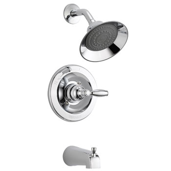 Peerless P188775 Complete Traditional Lever Tub & Shower Kit with Valve - Chrome