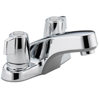 Peerless P241LF Two Tea Cup Handle Centerset Lavatory Faucet without Pop Up Drain - Chrome