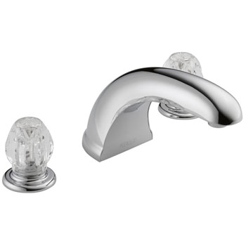 Peerless P286020 Two Acrylic Handle Complete Roman Tub Kit - Chrome