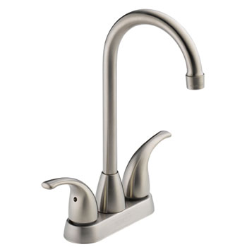 Peerless P288LF-SS Two Handle Contemporary Bar Prep Faucet - Stainless Steel