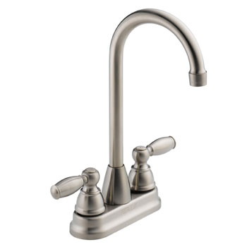 Peerless P290LF-SS Two Handle Traditional Bar Prep Faucet - Stainless Steel