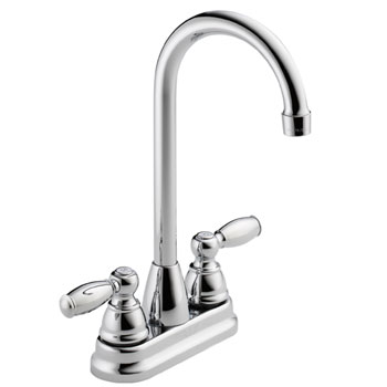 Peerless P290LF Two Handle Traditional Bar Prep Faucet - Chrome